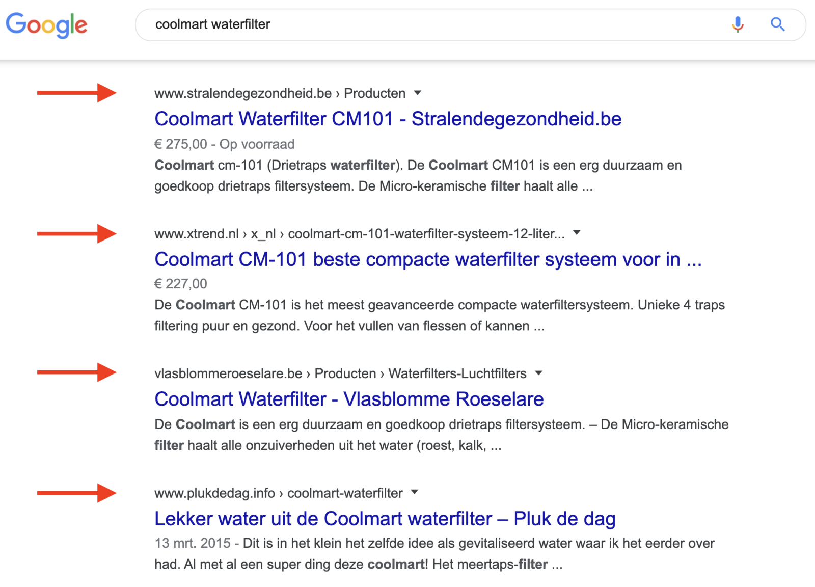 E-commerce SEO - coolmart waterfilter